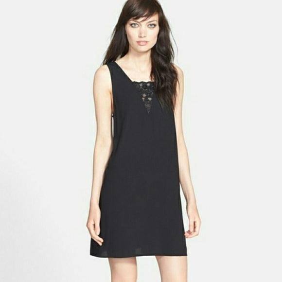 Tildon Dresses Sleeveless Black Shift Dress With Lace Poshmark